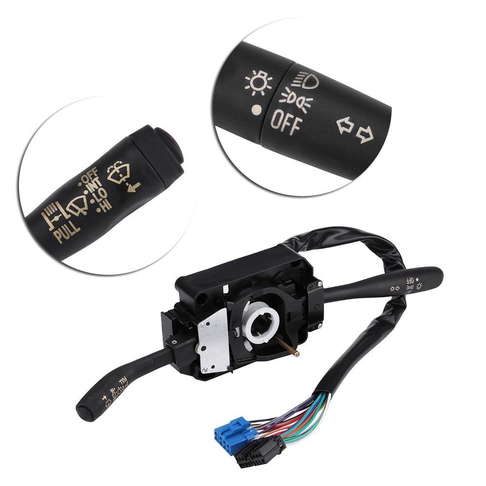 Turn Signal Indicator and Wiper Control Combination Switch for Isuzu NPR NPR NQR GMC 8973640740 Wiper Column Stalk Switch