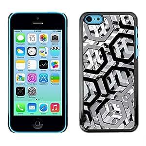 PC/Aluminum Funda Carcasa protectora para Apple Iphone 5C Metal Pattern / JUSTGO PHONE PROTECTOR