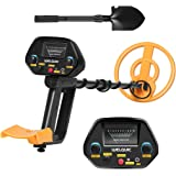 WELQUIC Metal Detector Pinpointer with High Accuracy VLF Technology and Discrimination Mode Waterproof for Gold Nugget Prospecting Relics Coins Jewelry Hunting (Black & Yellow)