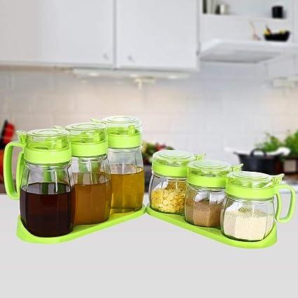 XCF Caja de condimentos Cajas de condimentos de plástico, Cajas de condimentos de Vidrio,