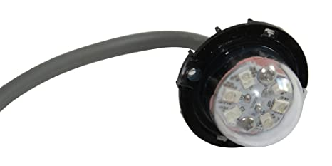 FLUX Bolt Emergency Vehicle LED Hideaway/Surface Mount Strobe Warning Light  (White/White)
