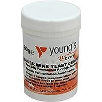 Youngs Brew Inicio Brewing Súper Wine Yeast Compuesto por 60 g de alcohol de alta