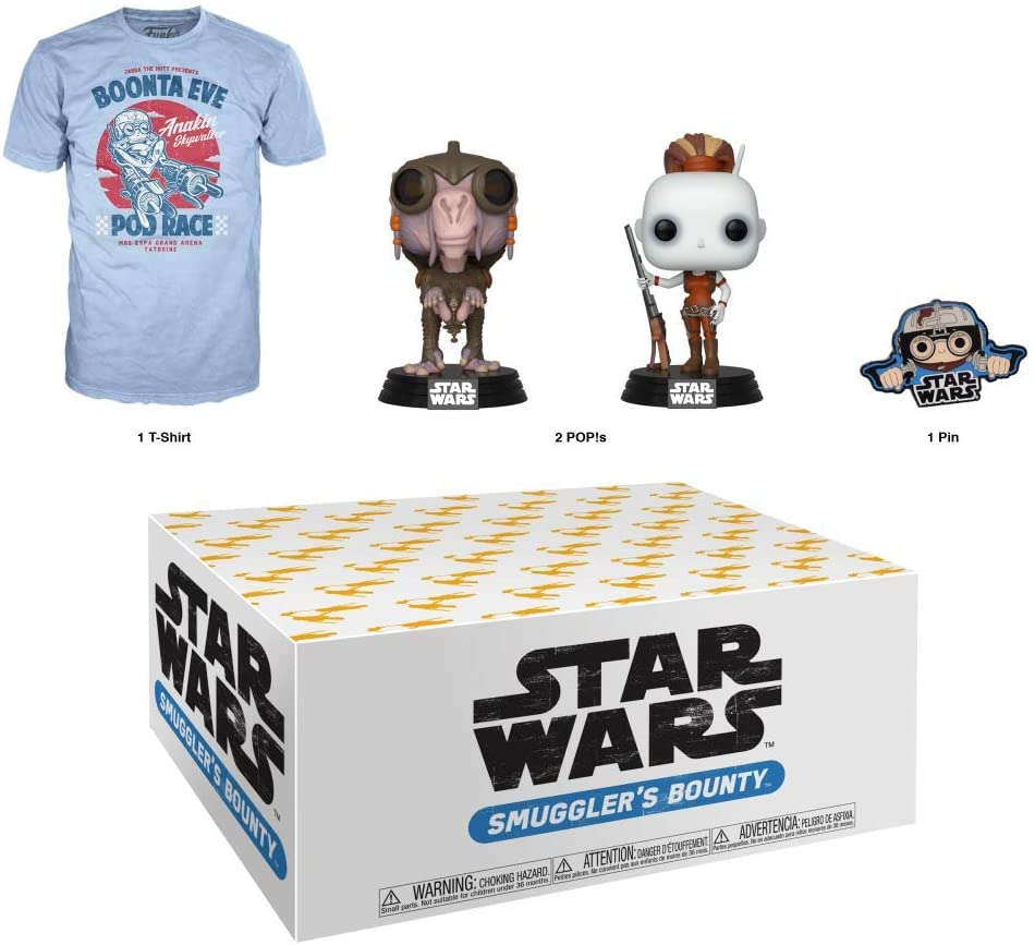 Funko Star Wars Smuggler's Bounty Subscription Box, Podracing Theme, August 2019, 3XL T-Shirt
