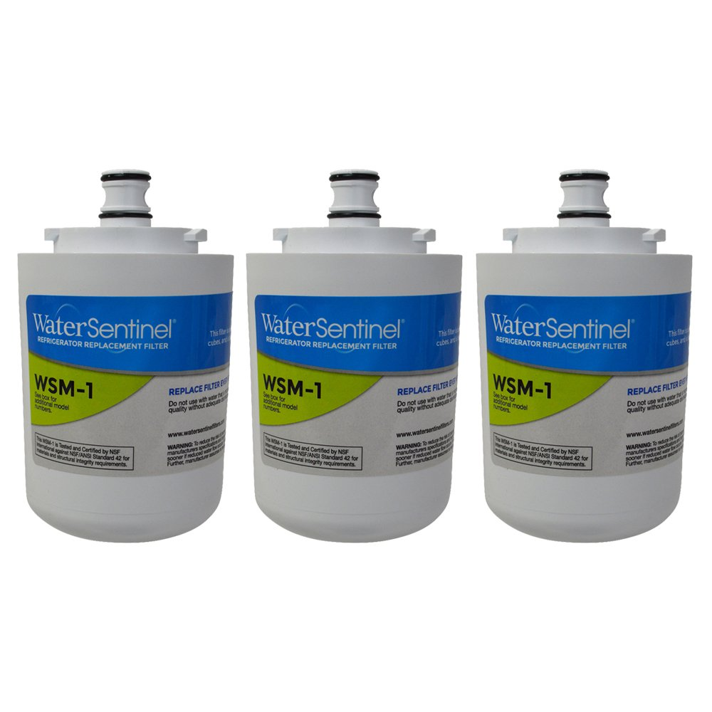 WaterSentinel WSM-1 Made in USA Refrigerator Replacement Filter: Fits Whirlpool FILTER 7 Filters (3-Pack)