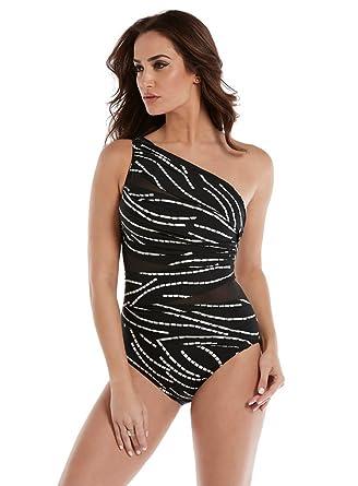 45ecc4610c7d5 Miraclesuit Women's JENA Asymmetrical One Piece Swimsuit Swimsuit at Amazon  Women's Clothing store: