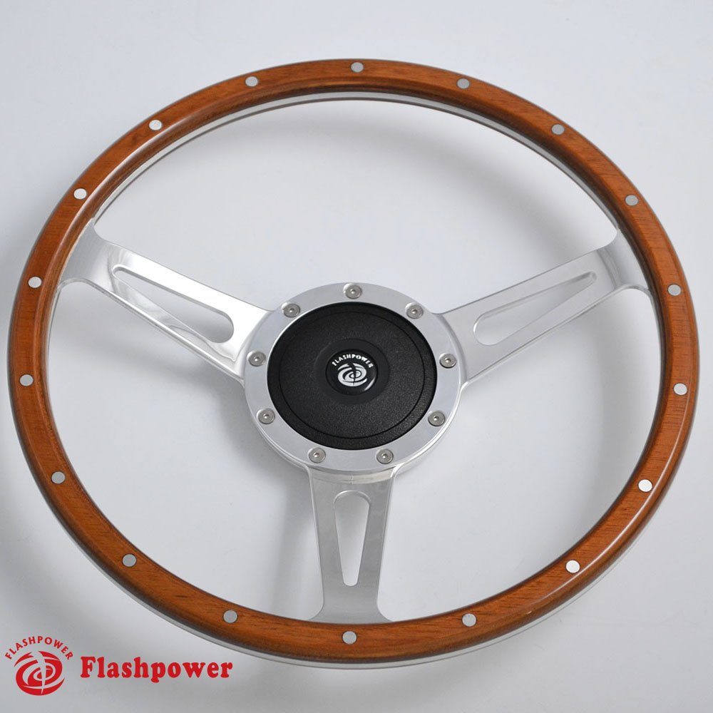 15 Classic Riveted wood grain steering wheel Restoration MGB Midget Derrington