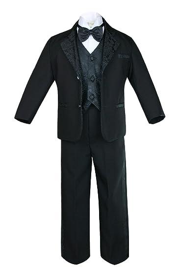 Leadertux Baby Toddler Teen Boy Formal Wedding Paisley Suit White Jacket sz S-20 7