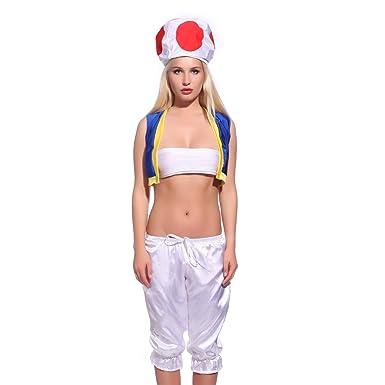 Super Mario Klempner Mit Pilz Mütze Kostüm Set Für Damen Mädchen