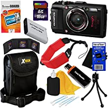Olympus Stylus Tough TG-4 Water, Shock, Freeze & Crush Proof 16MP Wi-Fi Digital Camera with GPS & HD Video, Black (International Version) + Battery + 9pc 16GB Accessory Kit w/HeroFiber Cleaning Cloth
