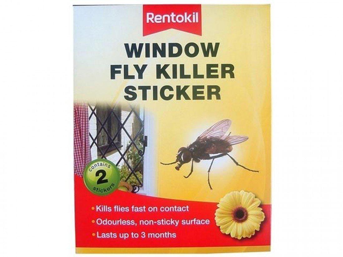 3 x Rentokil FW100 Window Fly Killer Sticker