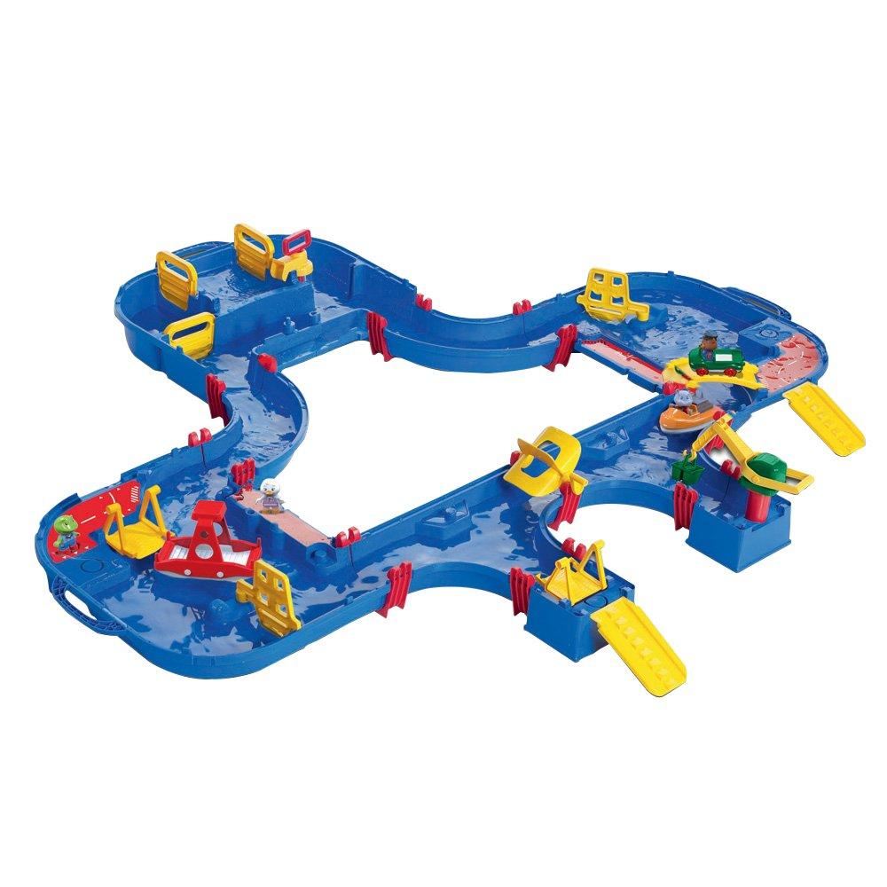 Aquaplay 8700001544 - Wasserbahn Set Mega Set, 38-teilig