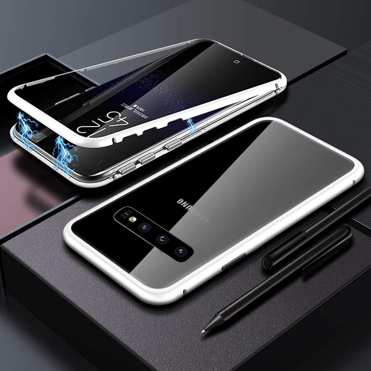 Funda Adsorcion Magnetica Para Samsung Galaxy S10e Plateada