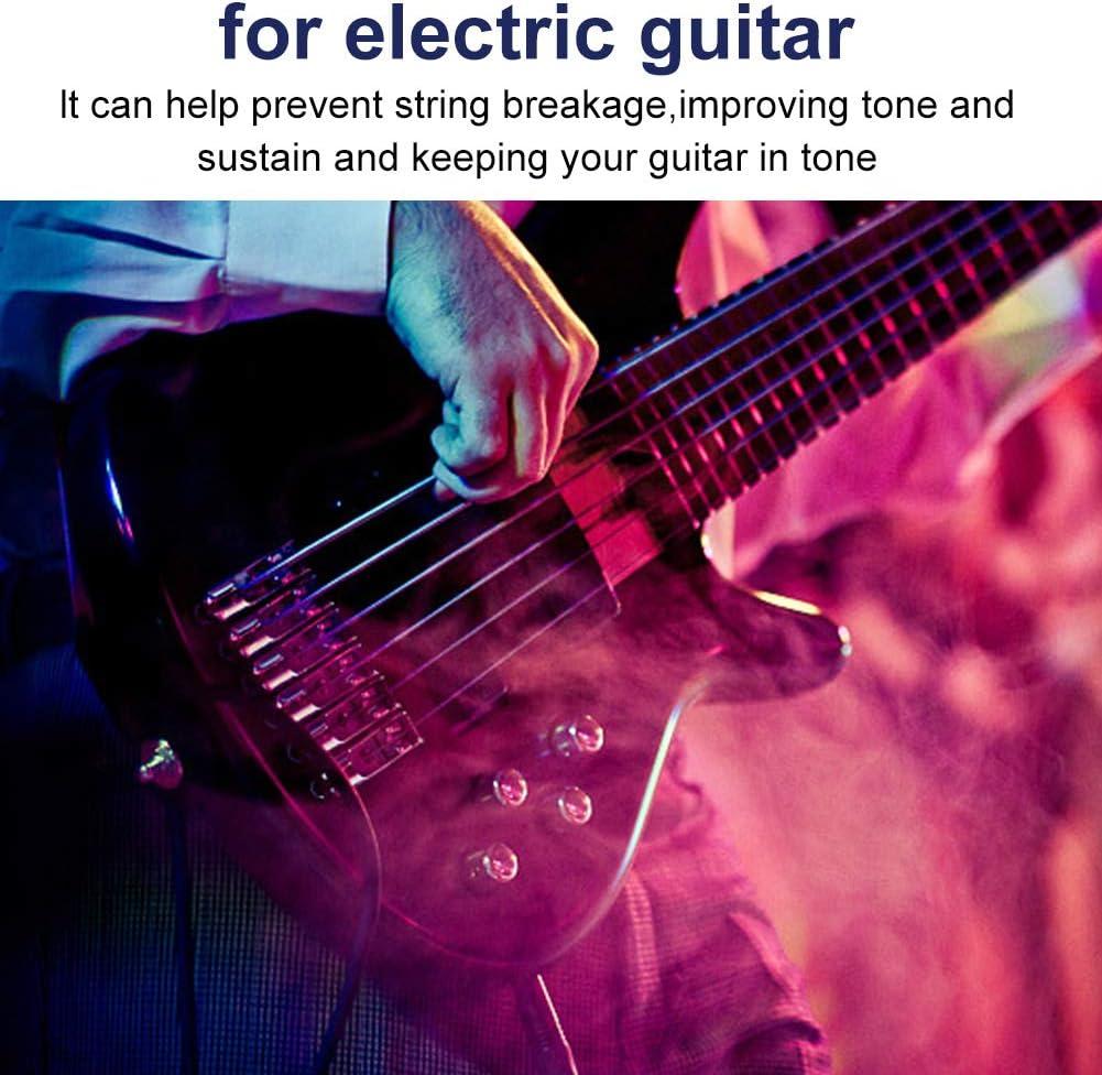 Dilwe 6Pcs Guitarra Trémolo Saddles, Puente de Rodillos Tremolo ...