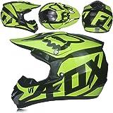MJW Adulto Motocross Casco/Gafas/Máscara/Guantes Moto Casco