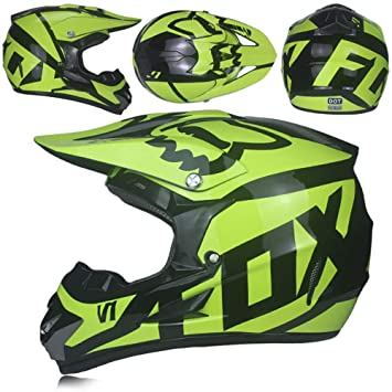 MJW Adulto Motocross Casco/Gafas/Máscara/Guantes Moto Casco,B,S
