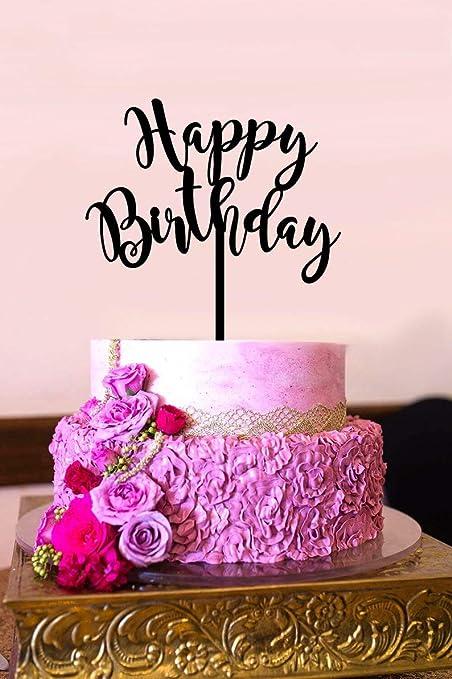 Decoración para tarta de cumpleaños con texto en inglés ...