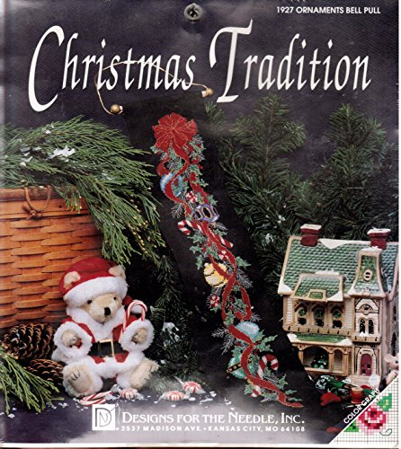 - Christmas Tradition 1927 Ornaments Bell Pull Black Red Green Counted Cross Stitch Kit