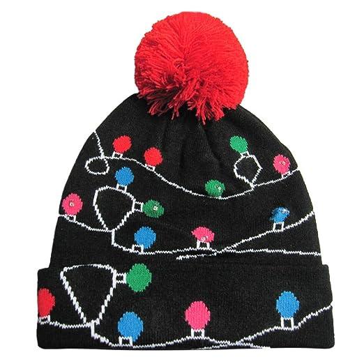 Amazon.com  Whitegeese Christmas Novelty Light Up Hat e67ff2d8d30