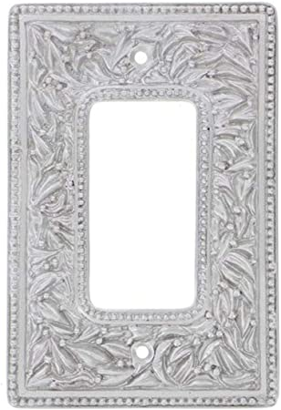 Vicenza Designs WP7005 San Michele Wall Plate with Double Dimmer Opening Oil-Rubbed Bronze