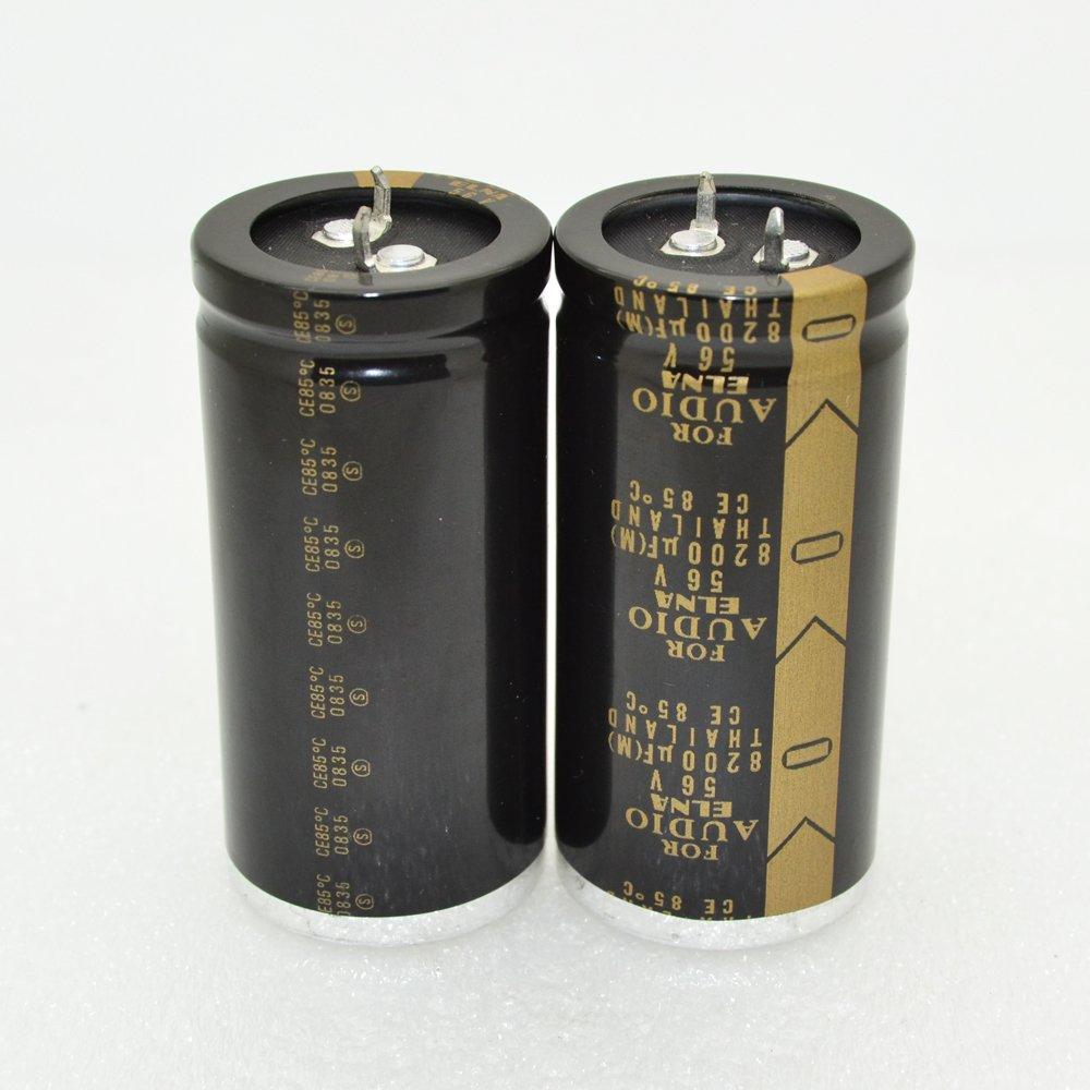 2pcs Elna 8200uf 56V 30/×63mm Pitch:10mm Audio Electrolytic Capacitor-4064