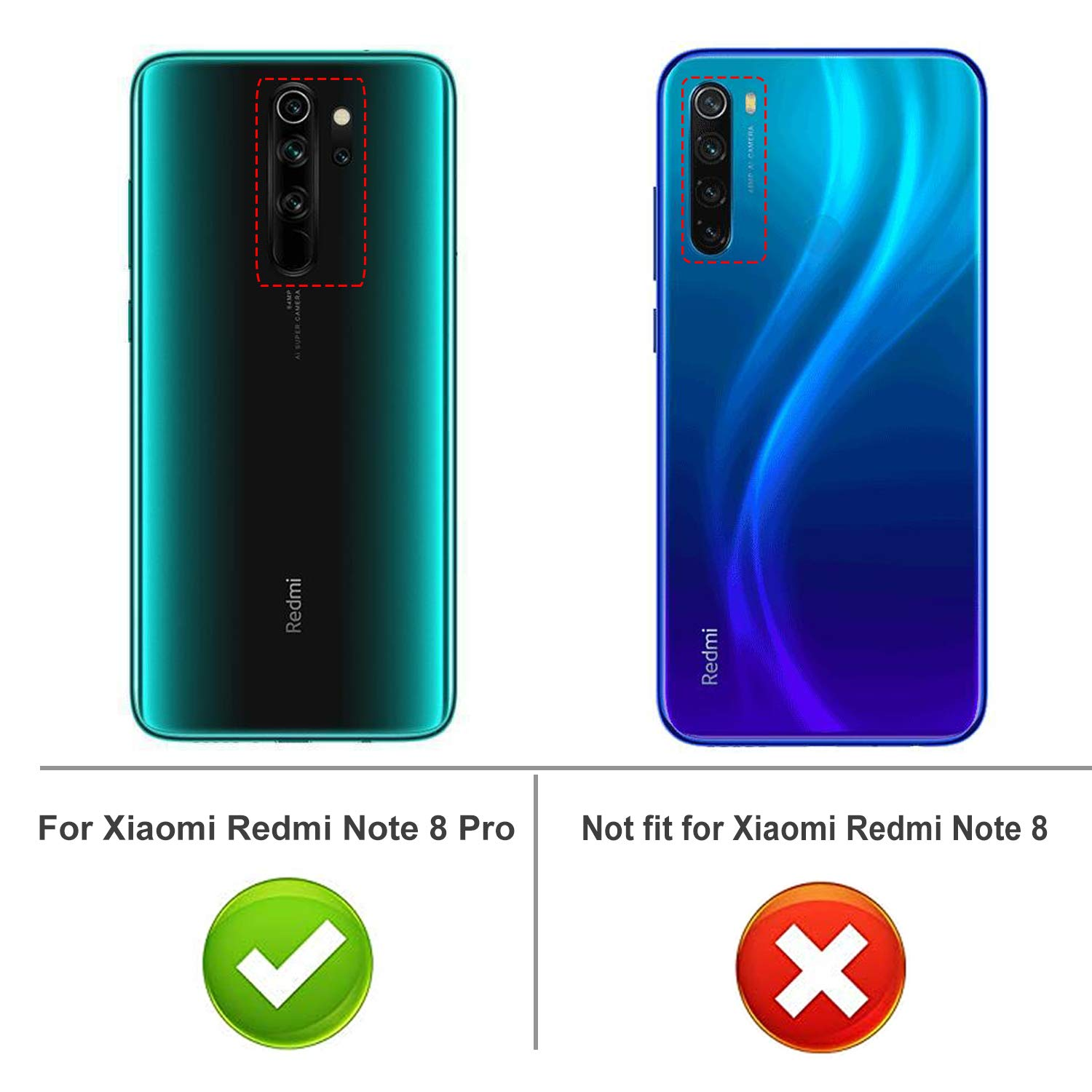 Luibor Case for Xiaomi Redmi Note 8 Pro Case,Crystal Clear Soft Slim Thin and Anti-Scratches TPU Cover for Xiaomi Redmi Note 8 Pro(Clear)