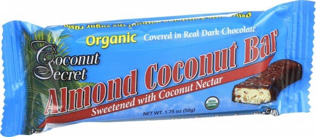 Coconut Secret Coconut Bar, Almond, 1.75 Ounce (Pack of 12)