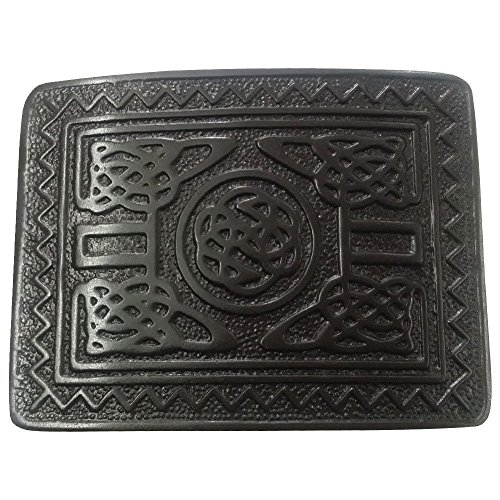 AAR Scottish Highland Swirl Celtic Design Kilt Belt Buckle Jet Black Finish