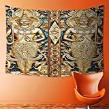 SOCOMIMI Wall Decor Tapestries Collection Thai Gate at Wat Sirisa Tong Thailand Buddhism Architecture History Spiritual Picture Tapestry Coverlet Curtain
