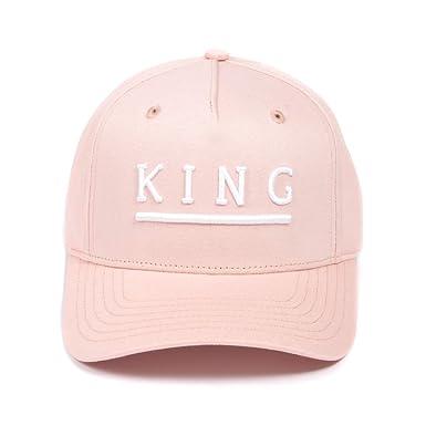 836055fa143 King Apparel Men s Shadwell Curved Peak Blush Snapback Cap O S Pink ...