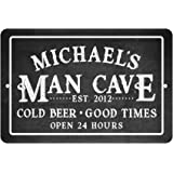 Personalized Chalkboard Man Cave Cold Beer Good Times Metal Room Sign