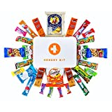 HARD PLASTIC HANGRY EMERGENCY SNACK KIT - PERFECT GIFT PACK - GREAT FOR BIKING, HIKING, CAMPING, SPORTS, MOTORCYCLE RIDES, COLLEGE KIDS, CHRISTMAS PRESENT !!!!! (XXL)