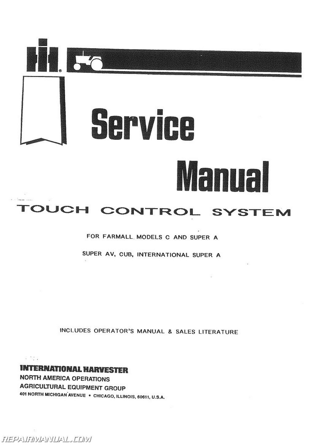 JS-IH-S-TOUCH-CTL International Harvester Touch Control Service Manual:  Manufacturer: Amazon.com: Books