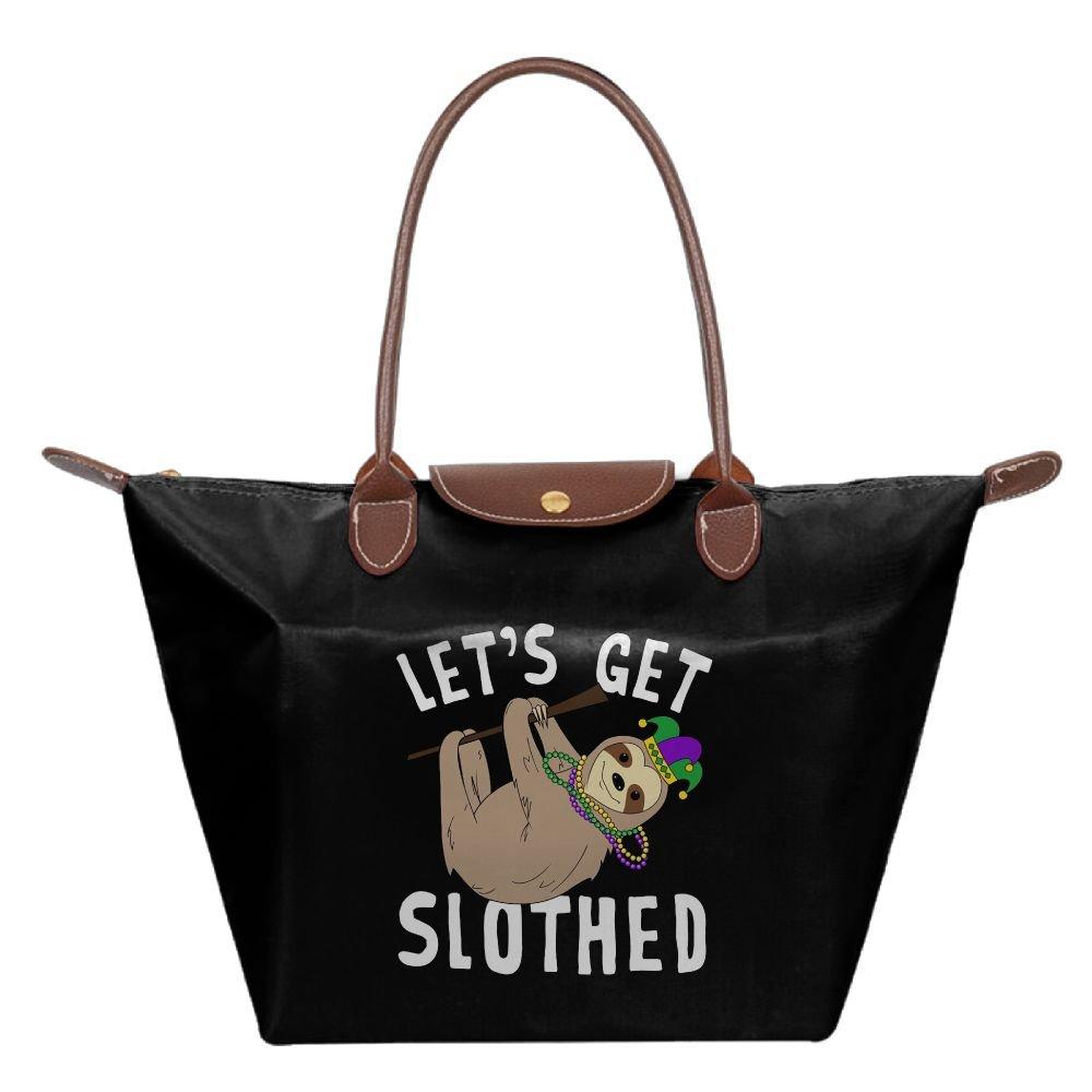 Adwelirhfwer Unisex Get Slothed Fitness Bag Black