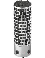 Sauna Poêle Électrique SAWO Aries Round Tower Premium 3HE 4,5 kW; 6,0 kW; 7,5 kW; 9,0 kW; avec unité de contrôle intégrée: thermostat et minuterie; 400V 3N; Type d'installation: posé au sol; Diamètre 30 cm; Chambre pour pierres 60kg;