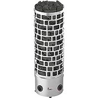 Sauna Poêle Électrique Sawo Aries Round Tower Premium 3HE 6 kW avec Unité de Contrôle Intégrée: Thermostat et Minuterie 230V 1N / 400V 3N
