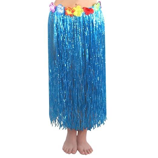 Collar de guirnalda hawaiana/disfraz de tiki/faldas de césped para ...