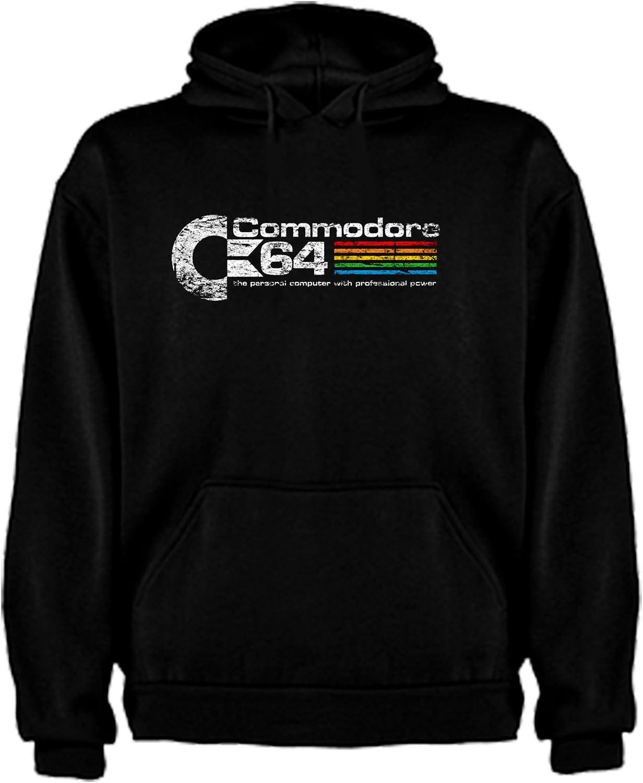 The Fan Tee Sudadera de Hombre Comodore Retro Gamer Logo Friki 64 Juego