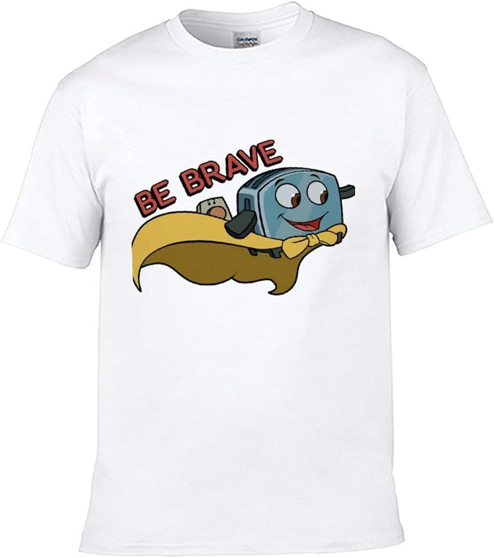 BAIJEN Be Brave Little Toaster Cotton Children's Comfortable Cartoon Anime Printing t-Shirt