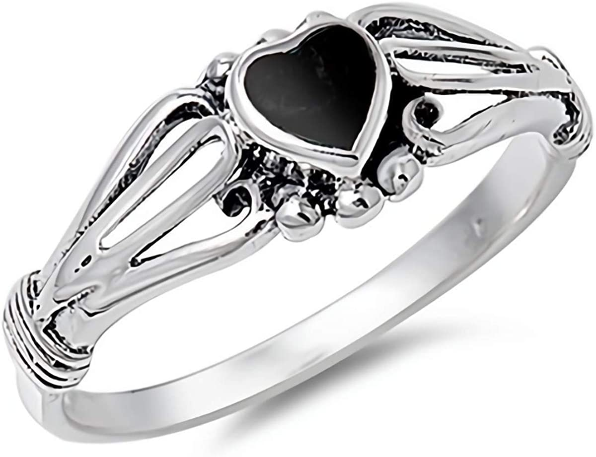 Glitzs Jewels 925 Sterling Silver Bali Ring Jewelry Gift