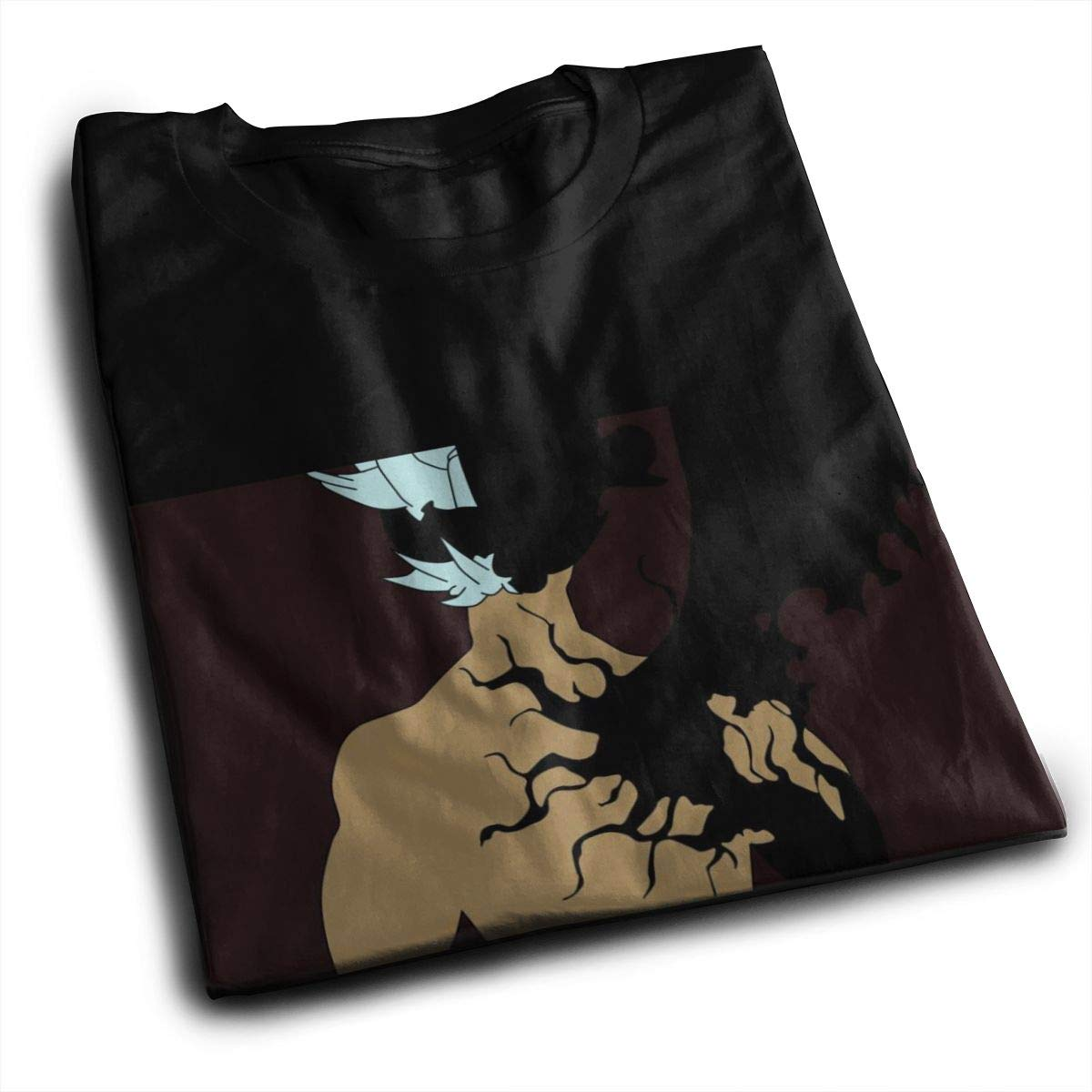 Black Clover Printed Casual Males Short Sleeve Tees Graphics Tees Smooth Black