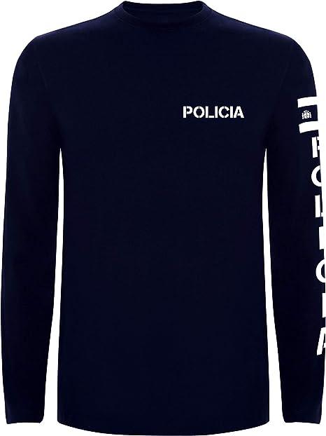 Aircops Camiseta Policia Manga Larga Hombre: Amazon.es: Ropa y accesorios
