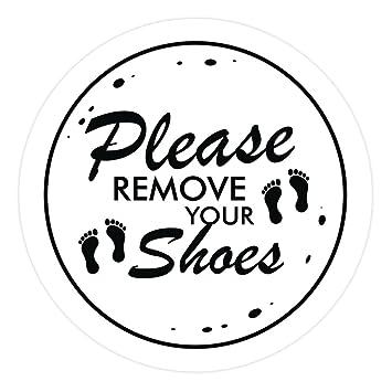 Amazon.com: Por favor quitar Zapatos Círculo Cartel para ...