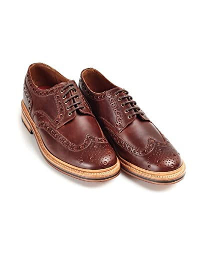 Tan Archie Leather Brogue Derbys Grenson