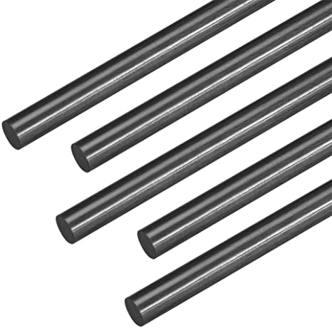 Sourcing map Lot de 5 barres en fibre de carbone pour avion RC Noir 400 mm