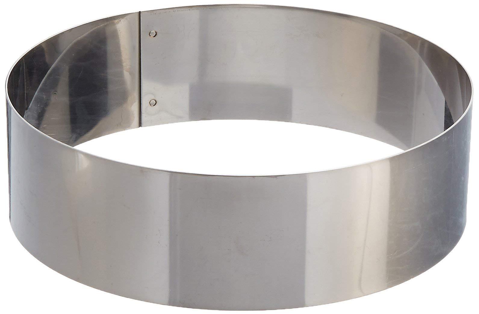 Matfer Bourgeat 371805 Ice Cake Ring, Silver
