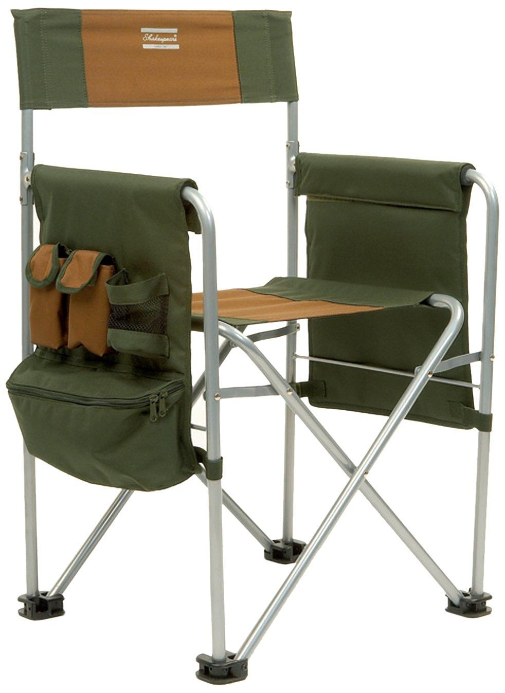 shakespeare directors chair chaise de p che marron vert. Black Bedroom Furniture Sets. Home Design Ideas