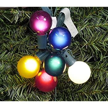 Amazon.com: Set of 20 Multi-Color Transparent G40 Globe Christmas ...