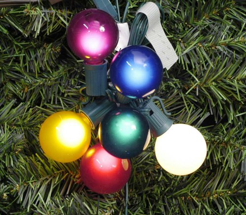 G50 Replacement Bulbs - Vickerman Pack of 10 Multi Satin G50 Globe Replacement Christmas Light Bulbs for C9 Socket