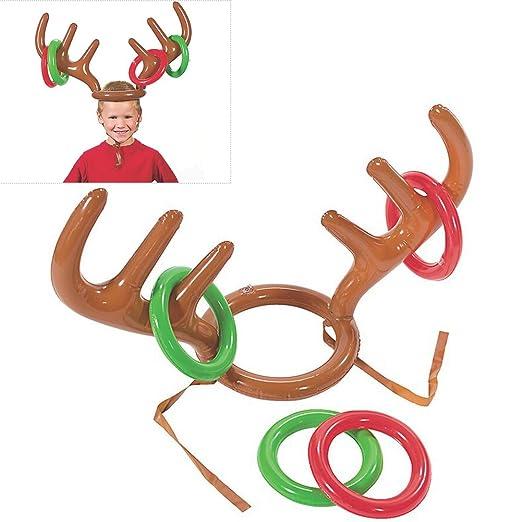 BUOCEANS Anillo de Atletismo, Hinchable Reno Toss Anillos Navidad ...