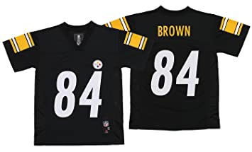 7c39043b016 OuterStuff NFL Youth Pittsburgh Steelers Antonio Brown #84 Jersey, Black  Large (14-16), Jerseys - Amazon Canada